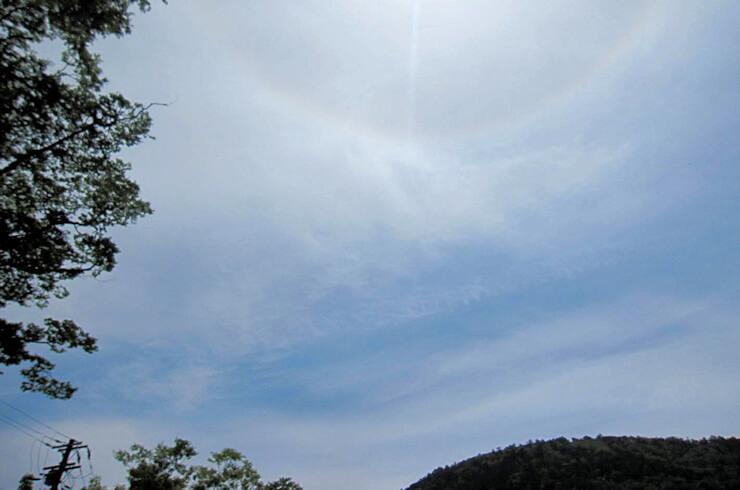 仁王門に現れた龍雲