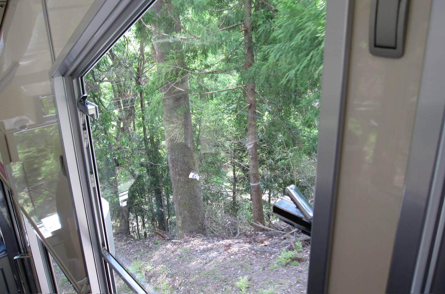 鞍馬山のケーブルカーからの眺め1