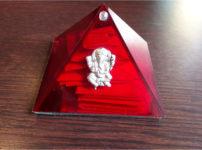 レイキボックスボルドー色のピラミッド