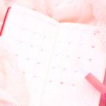 女性が使うかわいいピンク色の手帳