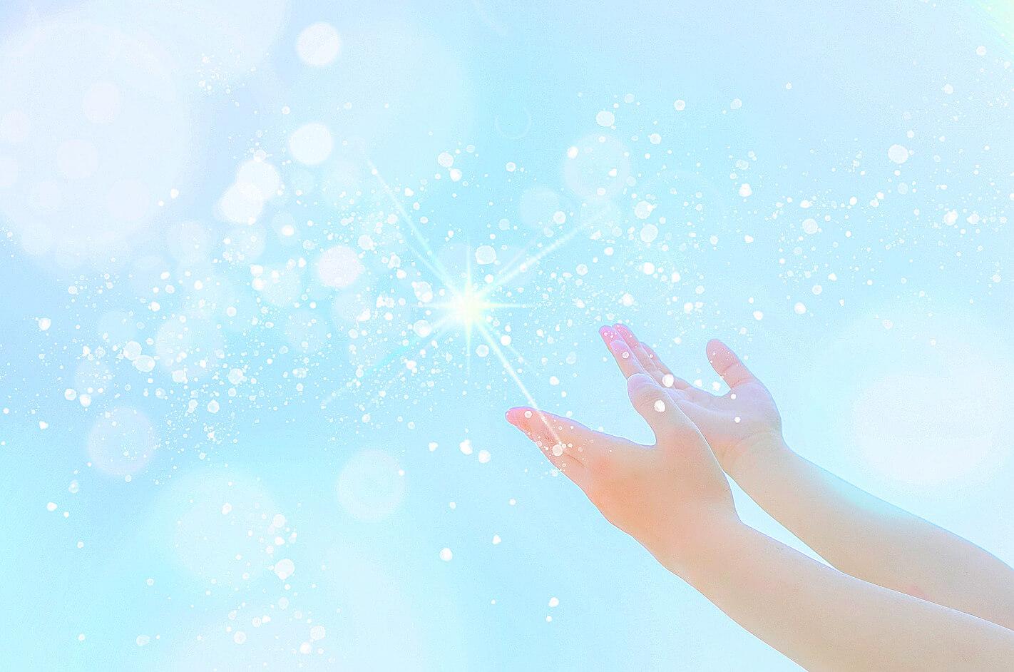 癒しのレイキを贈る両手