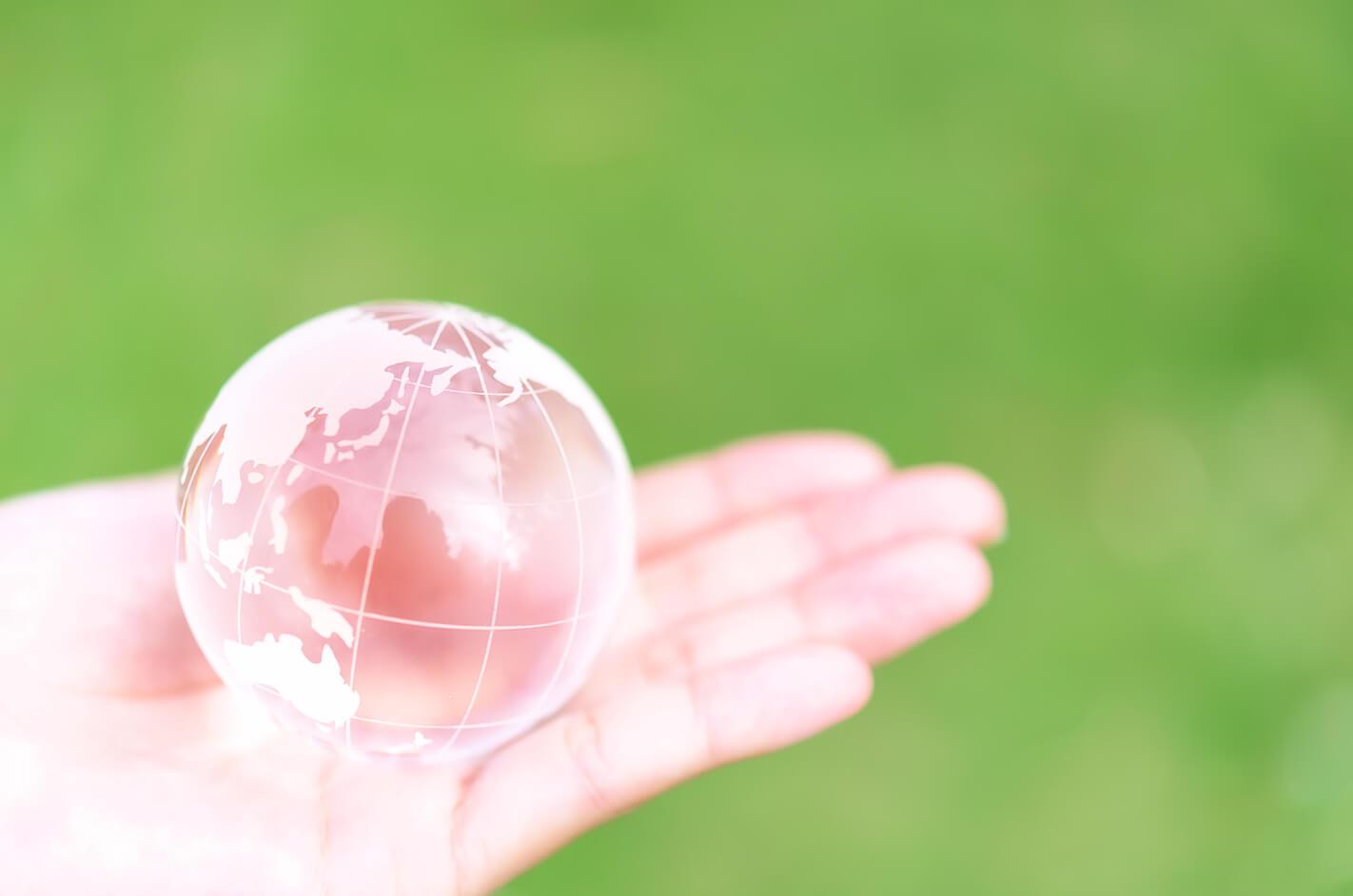 地球をヒーリングする真の心を持つ女性の左手