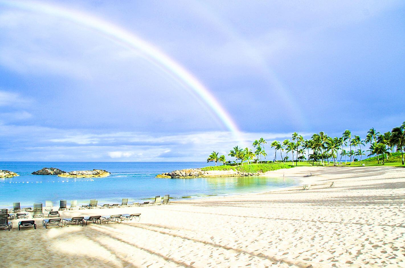 ハワイの美しいプライベートビーチ