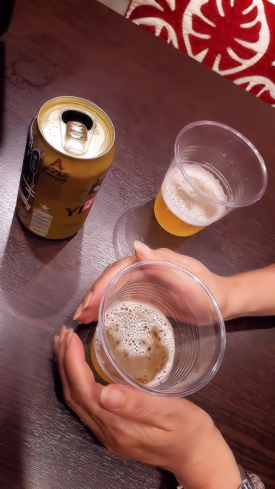 レイキの実験|ビール篇(ヒーリング中-1)