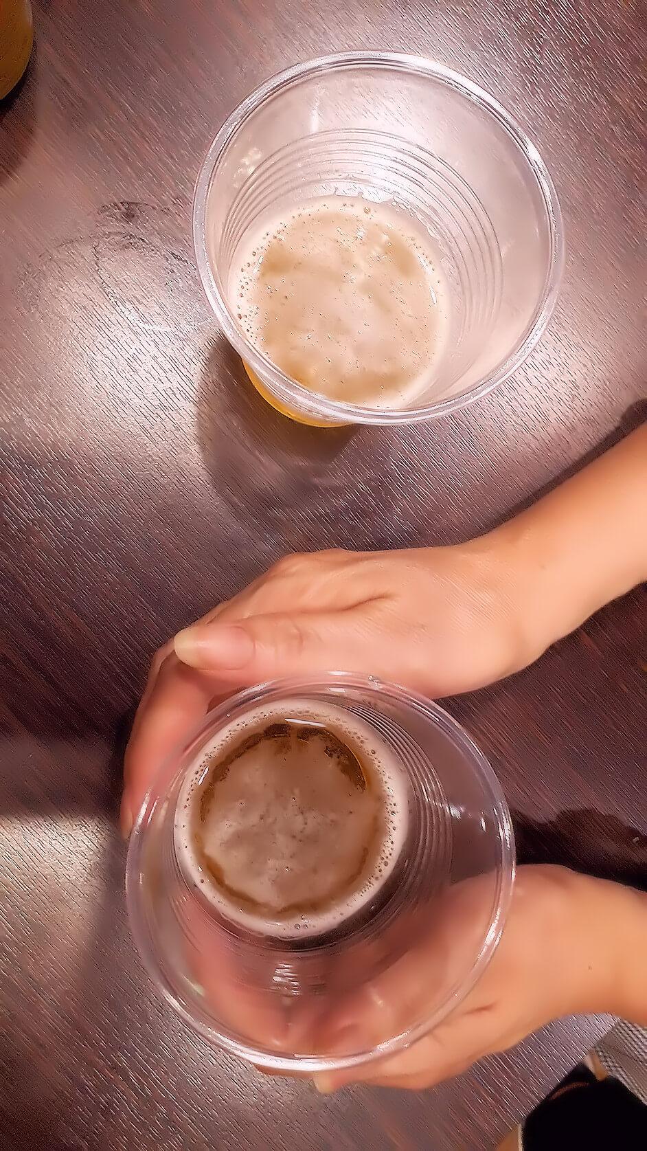 レイキの実験|ビール篇(ヒーリング中-2)