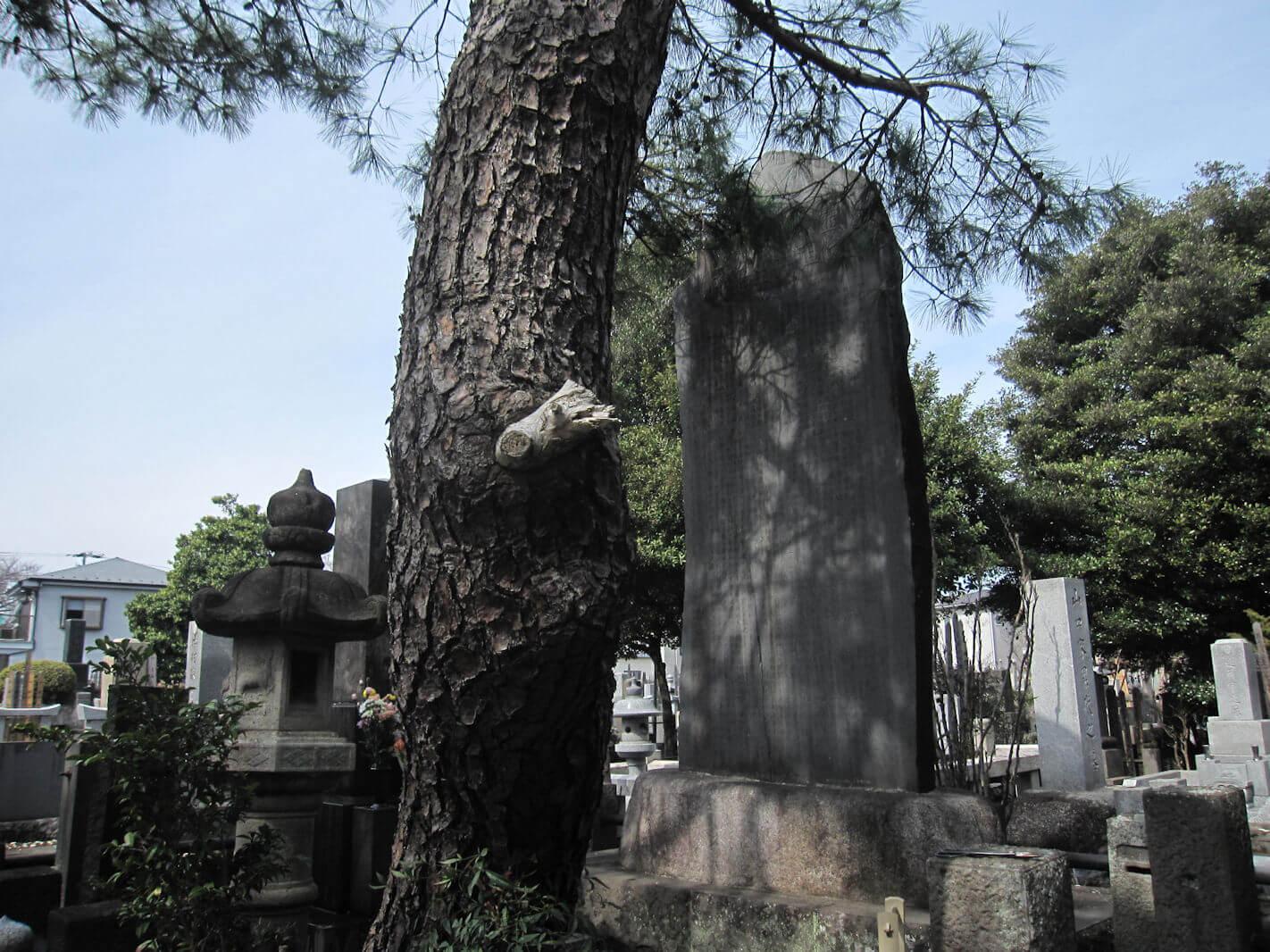 西方寺(臼井甕男先生のお墓の石碑)